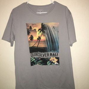 Quicksilver Bali Men's XL Gray Tshirt